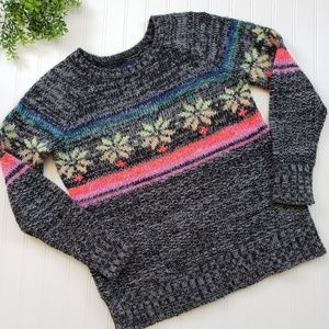 American Eagle Fairisle Jegging Sweater sz small